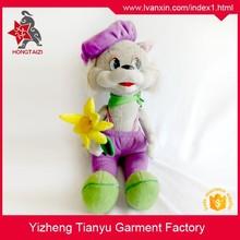 standing plush rabbit toys, 30cm stuffed rabbit for girls