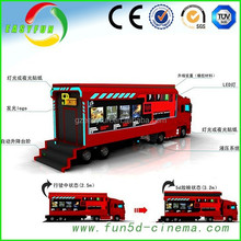 New fashion 2015 truck mobile 5d cinema,mini 5d projector cinema made in china