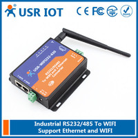 (USR-WIFI232-630) RS232 RS485 to Wifi/Ethernet Converter,Wifi Serial Server with 2 RJ45