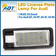 Super Canbus no error license plate lamp, led tail light for Audi Q7 TDI A3 8P A6 4F A4 B6