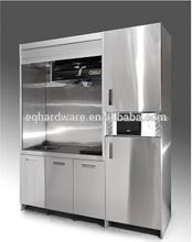 la cocina abierta diseño de guangzhou de china mini despensa independiente del gabinete de acero inoxidable oem cocinita