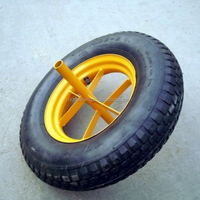 Alibaba China 3.50-8 Pneumatic Rubber Wheels
