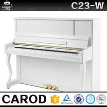 C23-W Hot selling 88 keys white vetical acoustic piano