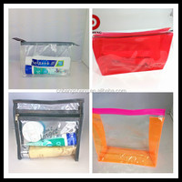 2015 fashion high Quality clear pvc mini cosmetic bag with zipper