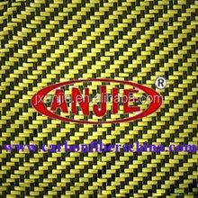 3k aramid carbon fiber hybird fabric yellow,carbon aramid hybird cloth