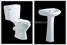 Top quality hot sale twyford basin twyford wc bathroom toilet basin set miniset
