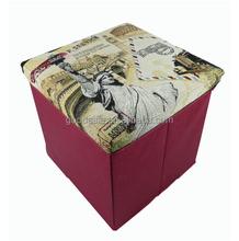 Estatua de la libertad otomana de almacenamiento plegable caja tapiz asiento plegable taburete plegable pecho