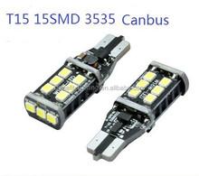Super bright canbus T10 T15 LED car light bulb , 3535 T15 canbus led light, canbus LED