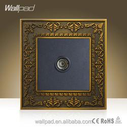 Wholesaler Wallpad Luxury Zinc Alloy Wall Switch Satellite TV Weak Current Wall Socket 110-250V Satellite TV Television Sokcet,