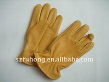 amarillo premium unidad de trabajo de mano de obra de ciervo de invierno guantes de cuero