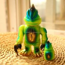 green lizard pvc figure; cartoon cabrite 3D pvc figure;green flow in dark custom pvc figure