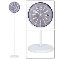 Antique design day and date display function metal floor standing clock for home decoration