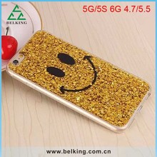 Newly Design Soft Phone Sparking TPU For iPhone 6 Cover 3D Smiling Face Gel Case