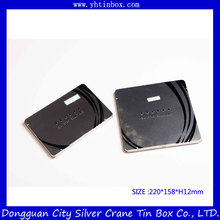 Rectangular metal tin box for color pen packaging