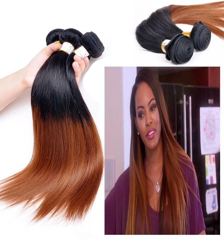 Milky Way Two Tone Hair Weave Triple Weft Hair Extensions