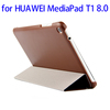 Wholesale price 3 Folding Flip Stand Leather smart case for HUAWEI MediaPad T1 accessory