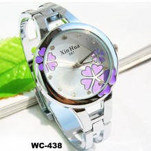 New design fashion ladies fancy round quartz alloy stainless steel bracelet watches for lovers