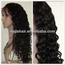 curly human hair fall/lace wigs for small head for black women