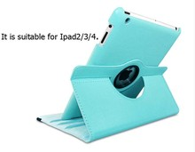 Factory price rotating 360 degree tablets protect cover cases for ipad 234