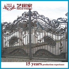 Alibaba express models beautiful galcanized wrought iron main gate colors house gate designs