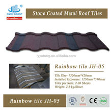 Roofing material stone coated steel roofing tile
