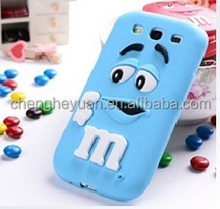 3D Cartoon Chocolate Rainbow Beans Case Soft Silicone Cover For ipad 2 3 4