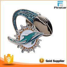 Hail Arts Design soft/hard enamel Wholesale Hat Pins With Glitter