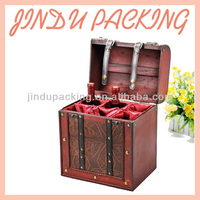 6 Bottle Packed Wooden Wine Case Carrier