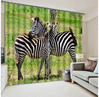Hottest lifelike zebra printed curtain 100% polyester 3d curtains living room for kids