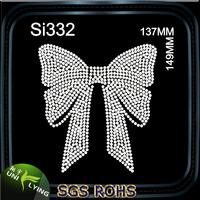 Big bow rhinestone t-shirt design wholesale for dresses