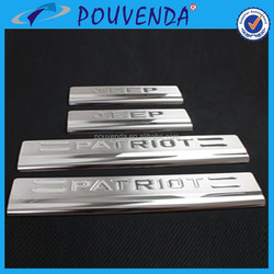 stainless steel door sill sucff plate Jeep Patriot 2014