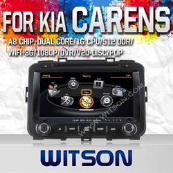 WITSON AUTO RADIO CAR DVD GPS FOR KIA CARENS 2013 WITH A8 DUAL CORE CHIPSET DVR SUPPORT WIFI 3G APE MUSIC BACK VIEW