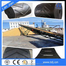 NN/EP/CC canvas factory price with CE/ISO/DIN approved newly and used chevron/patterned rubber conveyor belt (for granulated)