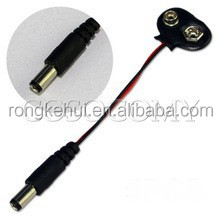 """9V Battery Clip 12cm 4.72"""" with Male DC Plug 2.1 X 5.5mm"""