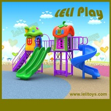 LL-O12 Best Selling Good Quality Outdoor Kids Plastic Slides