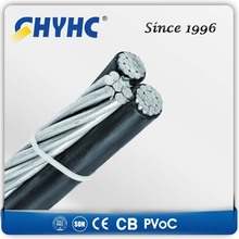 XLPE Insulated Aerial Bundled Cables 6.35/11,12.7/22,19/33kV 4core abc cable