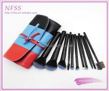 2015 fashion New products colored make up brush cosmetic 11pcs/set makeup brush set fade hair