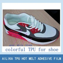 TPU adhesive film for no sewing shoe upper making shoe adhesive