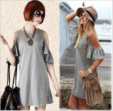 d90457t 2015 woman summer off shoulder plus size dress for women
