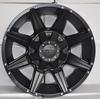 18x9.0 for suv 4x4 matt black machine face wheels