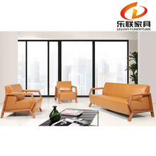 S821 modern reception leather sofa for project