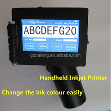 2015 New handheld inkjet printer for wood/carton/steel/PVC plastic production date expiry date( DF-2000)