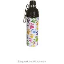 2015 Hot Selling 24oz Stainless Steel Pet Water Bottle /Dog Cat Drinking Fountain/pet joyshaker bottle for drinking water
