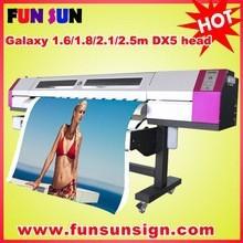 Galaxy 1.6m/1.8m/2.1m/2.5m/3.2m wide format eco solvent printer (1440dpi,dx5/dx7 print head)