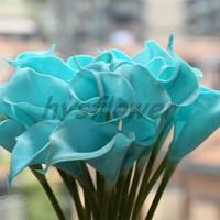 fabric pu Baby blue mini calla lily wholesale artificial calla lily for sale