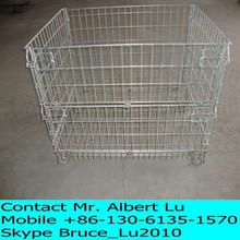 Galvanized metal fold wire mesh cage