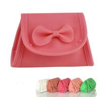 2013 Girl's Trend Candy Color Lovely Purse Bag Cute Handbag Bags Bowknot Silica Ladies Shoulder Bag 15790