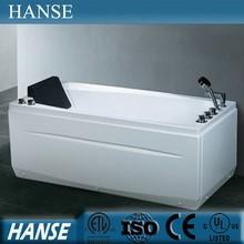 HS-B1669T low price foshan massage small jet acrylic common bathtubs