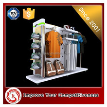 Customized High Quality Powder Coating fashion clothing store furniture high and low wholesale wood display case
