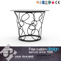Factory wholesale modern dining room tempered glass dining table